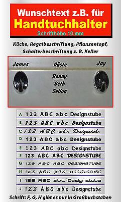 4 Stück Badezimmer Handtuchhalter (Wunschnamen Wunschtext  4 Stück für Handtuchhalter Gäste Namen Sticker Aufkleber)