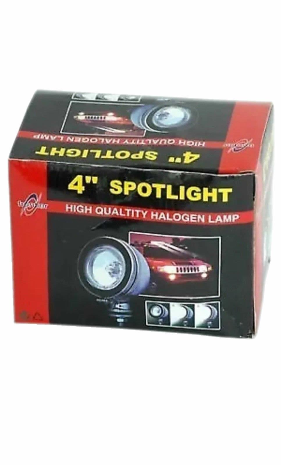 "4"" WHITE HALOGEN SPOTLIGHT FOGLIGHT 12V H3 55W CAR VEHICLE LAMP LED"