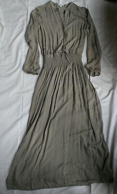 JAMES PERSE GREY LONG DRESS size 0 / XS 100% cotton with grey under slip