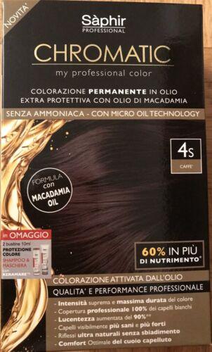 CHROMATIC Haarfarben Set. Ammoniak free auf Macadamiaöl Basis-4S kaffee