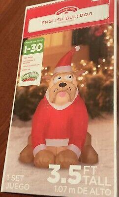 NiB Airblown Inflatable 3.5 Ft Tall English Bulldog Christmas