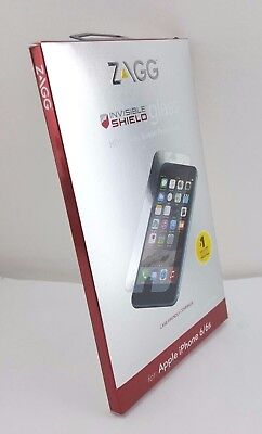 Zagg Apple Iphone 6 7 8 Invisible Shield Screen Protector Glass case friendly  for sale  Shipping to India