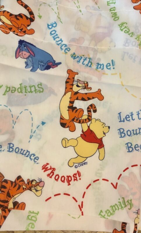 """Winnie the Pooh & Tigger Balloon Valance """"Bounce With Me"""" Disney 84""""X 15"""" NWOT"""