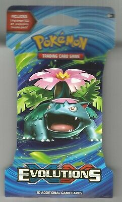 Pokemon XY Evolutions Hanging Booster Pack Factory Sealed