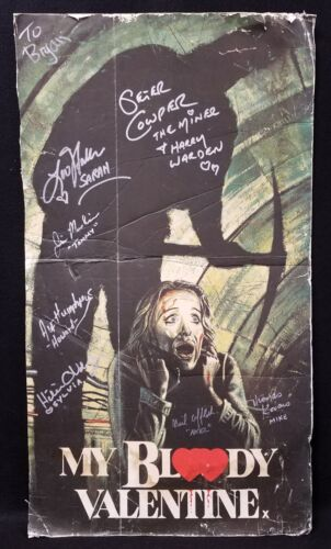 "Original Actors Signed 1981 Movie Poster ""MY BLOODY VALENTINE"""