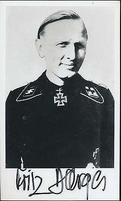 Fritz Darges signed  photo.