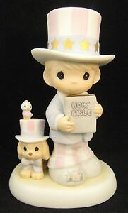 Precious Moments God Bless America Forever Series Uncle Sam Figurine 102938R MIB