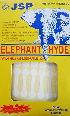 Jsp Elephant Hyde Tags Ring Jewelry Labels Dumbbell Style 11x45mm 1-34