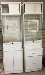 CUSTOM BIRD CAGES WITH OPTIONAL DRAWERS