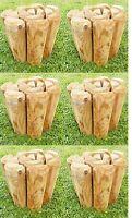 6 X Log Rolls 15cm X 100cm - Wooden Log Roll Edging - Garden Border Lawn Edge - ruddings wood - ebay.co.uk