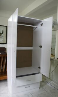 1.9M High 2 Door Wardrobe with Drawers Bankstown Bankstown Area Preview