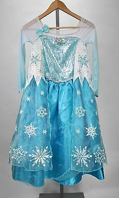 Disney Frozen Princess Elsa Winter Halloween Costume for Girls Kids Size 9/10 - Frozen Costume For Kids