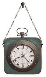 HOWARD MILLER NEW METAL WALL CLOCK -ANTIQUE BLUE  FINISH WINDROSE 625-634