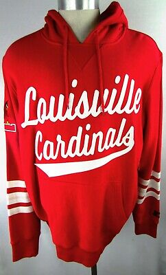 Louisville Cardinals NCAA Men's Embroidered Drawstring Pullover Hoodie in -