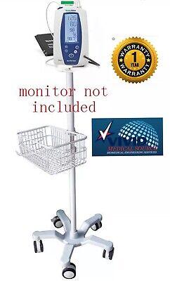 Rolling Stand Cart For Welch Allyn Spot 420 Vital Monitor Big Wheel 1 Yr Warnty