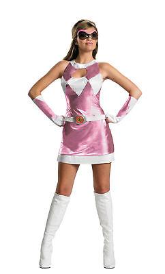 Power Rangers Sassy Pink Ranger Luxus Erwachsene Damen Kostüm Heldin Thema Party
