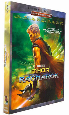 Thor  Ragnarok  Blu Ray Dvd  New W Slip  Seased Box