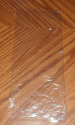 Box of 1000 Flat Open Top Clear 1 mil Poly Plastic Bags 5
