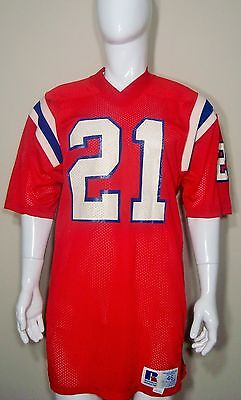 Game Used Worn Team Issued NFL New England Patriots Vintage 80 s 90 s Jersey   21 7f9188e90