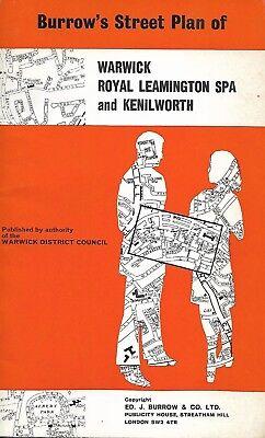 Vintage 1977 Burrows Street Plan Warwick Royal Leamington Spa & Kenilworth Map segunda mano  Embacar hacia Argentina