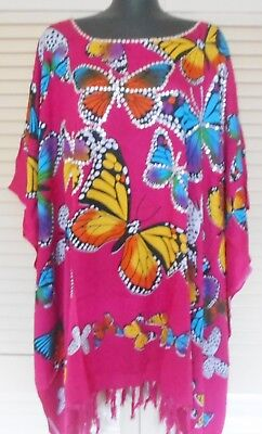 One Stop Party Shop (Butterflies & Bling Short Kaftan top fits size 14-26 One stop shop colourful  )