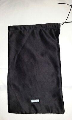 "New Authentic PRADA Drawstring Dust Bag black 13.25""L x 8.25""W Black"