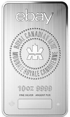 eBay & RCM 10oz .9999 Fine Silver Bar
