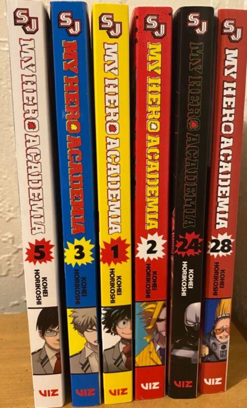 my hero academia manga english (10 dollars each) or all together (60 dollars)