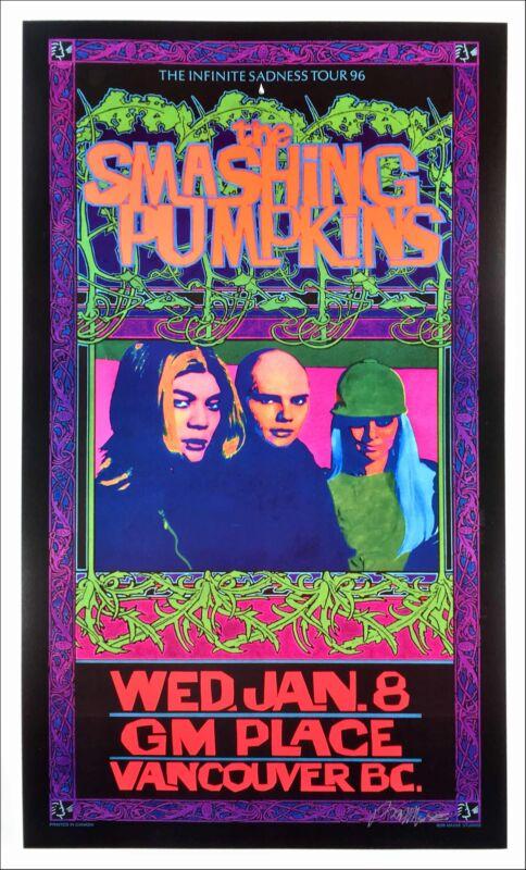 Bob Masse Smashing Pumpkins Hand Signed Poster 1996 Infinite Sadness Tour COA