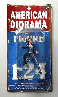 "BIKER ANGEL AMERICAN DIORAMA 1:24 Scale Figurine 3"" FEMALE LADY WOMAN Figure"