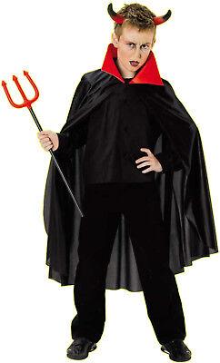 mhang schwarz Jungen Kostüm Vampir Teufel Dracular 116 128 (Klasse Halloween)