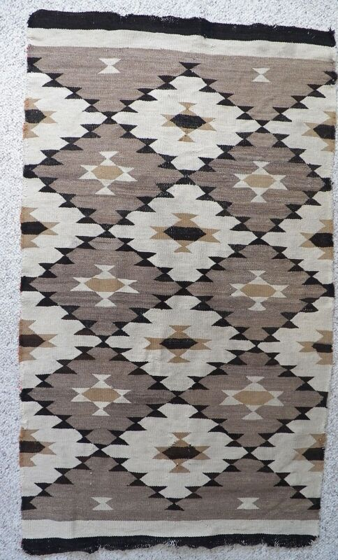 "Antique Navajo Rug, Ca 1920s, 33"" x 57"", Unusal Pattern"