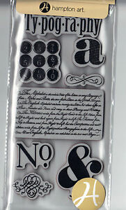 Graphic45-Cling-Stamps-TYPOGRAPHY-1-scrapbooking-Set-of-8-RETIRED