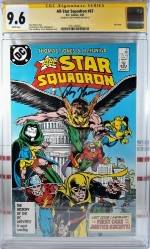 🌟 CGC 9.6 ALL STAR SQUADRON #67 SIGNED! ROY THOMAS Justice Society LAST ISSUE