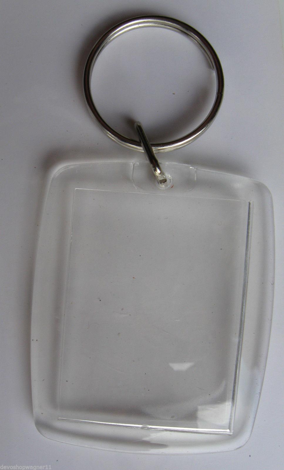98 5 Stück Foto Schlüsselanhänger 5,2 x 3,5 cm Acryl für Auto Werbung Hotel