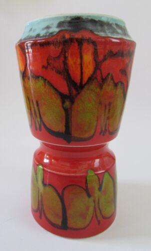 VTG Mid Century1960s POOLE Pottery England Orange Delphis Series Vase