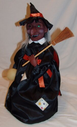 """Witch Halloween Decoration Vtg Telco Doesnt Work 16 1/2"""""""