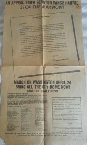 1971 NY Times newspaper ANTI VIETNAM WAR advertisement APRIL 24 MARCH WASHINGTON