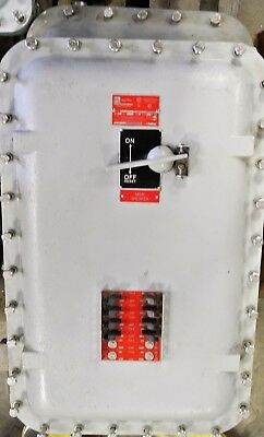 EGS APPLETON ELECTRIC 100 amp 208/120v Main Explosion Proof Breaker Panel NEW