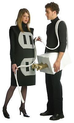 Plug And Socket Set Adult Costume Halloween Dress Up Rasta Imposta Plus (Plug Halloween Kostüme)