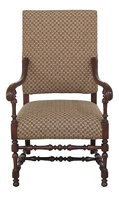 46555EC: SOUTHWOOD Large Upholstered Throne Chair, used for sale  Perkasie