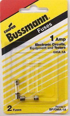 Bussman Bpgma-1a 1 Amp 5 X 20mm Fast Acting Glass Fuse
