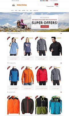 Outdoor Clothing Store - Custom Amazon Affiliate Website