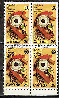 Canada Montreal Olympics stamps block 1976