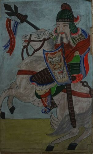 Very Fine 19th Century Korean Joseon Dynasty General on a Horse Jangji Paper