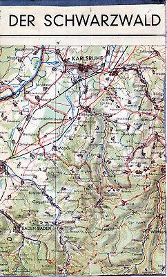 Karlsruhe Baden-Baden Wildbad 1948 orig. Teilkarte/Ln. Ettlingen Malsch Gaggenau
