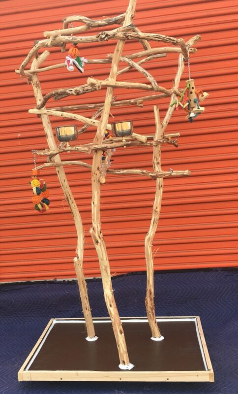 Multi Bird Parrot Perch Tree - Good For 1-3 Birds ...Great Looking And Sturdy !!
