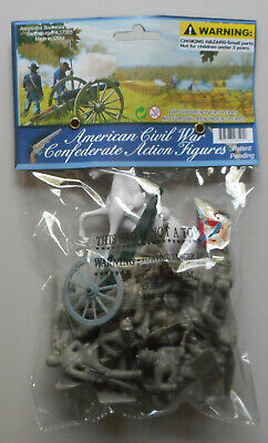54mm Civil War Gettysburg 12 Confederate Plastic Toy Soldier Figures 98524