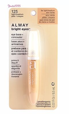 ALMAY Bright Eyes Eye Base + Concealer # 125 FOR LIGHT / MEDIUM SKIN TONES - Almay Bright Eyes