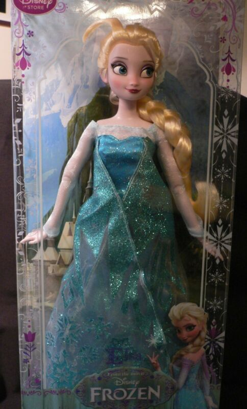 "ELSA+ANNA~Ice Skaters~12/"" DOLL Set~30.5cm~FROZEN~NWT~Disney Store~Stamp on Box"
